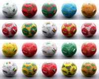 Balls with african flags of nations