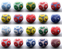 Balls with american flags of nations Royalty Free Stock Images