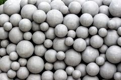 Balls as artwork Stock Photos