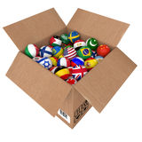 Balls as national flags of the world countries Royalty Free Stock Image