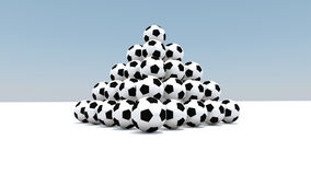Balls as a pyramid Royalty Free Stock Image