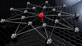 Balls attached network Royalty Free Stock Images