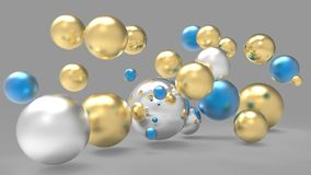 3d rendering. Abstract 3d shapes. Balls on a background. Abstract. 3D rendering. 3d image Royalty Free Stock Photography