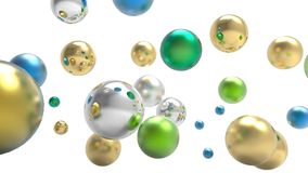 3d rendering. Abstract 3d shapes. Balls on a background. Abstract. 3D rendering. 3d image Stock Photos