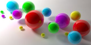 Abstract 3d shapes on background. 3d image. 3d rendering. Balls on a background. 3d image. Abstract stock illustration