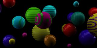 Abstract 3d shapes on background. 3d image. 3d rendering. Royalty Free Stock Image