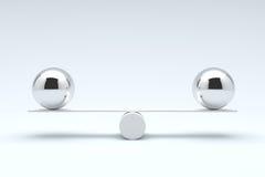 Balls balancing, Balanced concept. Stock Photos