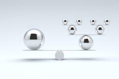 Balls balancing, Balanced concept. Royalty Free Stock Photo