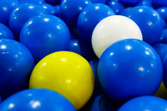 Balls in ball house play ground for kids Royalty Free Stock Images