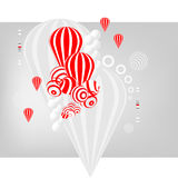 Balls and balloons. Illustration of the balls and balloons Royalty Free Stock Photo