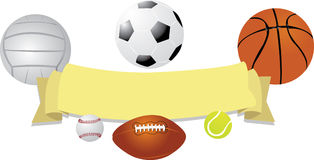 Balls Banner Royalty Free Stock Photos