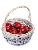 Balls in basket Stock Photo