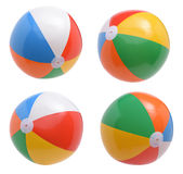 Balls. Beach balls collection isolated on white background stock images