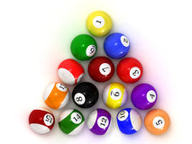 balls billiard Στοκ Φωτογραφία
