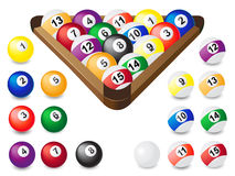 Balls for billiards Stock Photo