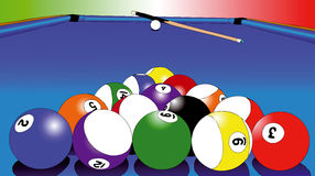 Balls of Billiards Royalty Free Stock Photography