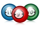 Balls for billiards Royalty Free Stock Images