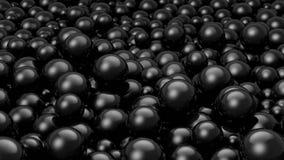 Balls Black. A stack of thousands of black balls stock illustration