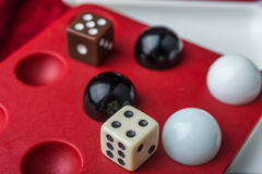 Balls and bones on the wells, game's symbol Royalty Free Stock Image