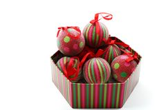 Balls in a box Royalty Free Stock Image