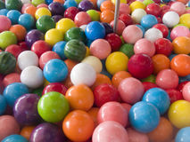 Balls in a Bubble Gum Machine. Close up of Colorful Balls in a Bubble Gum Machine Royalty Free Stock Photography