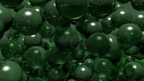 Balls bubbles green Royalty Free Stock Photos