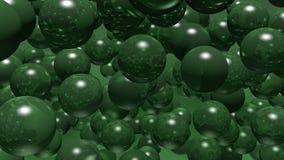 Balls bubbles green Royalty Free Stock Photography