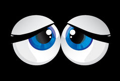 Balls bulging eyes Stock Image