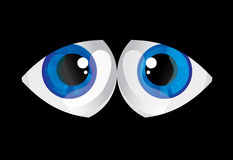 Balls bulging eyes Royalty Free Stock Images