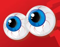 Balls bulging eyes Stock Photo