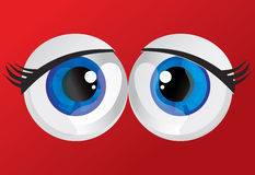 Balls bulging eyes Stock Images
