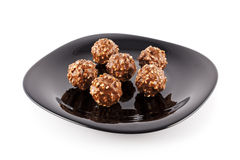 Balls of chocolate Stock Image