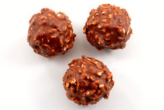 Balls of chocolate with nuts Royalty Free Stock Photography