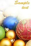 balls christmas colorful Στοκ φωτογραφία με δικαίωμα ελεύθερης χρήσης
