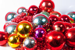 Balls christmas decoration. Colored balls for  christmas decoration Stock Photo