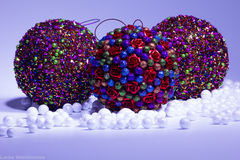 Balls. Christmas decoration in the form of balls Royalty Free Stock Photos