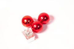 Balls christmas decoration. Red balls for  christmas decoration Royalty Free Stock Photos