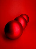 balls christmas red Στοκ φωτογραφία με δικαίωμα ελεύθερης χρήσης