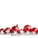 balls christmas red white Στοκ φωτογραφία με δικαίωμα ελεύθερης χρήσης