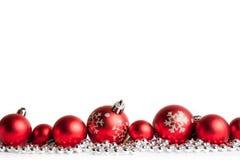 balls christmas red white Στοκ φωτογραφίες με δικαίωμα ελεύθερης χρήσης