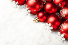 balls christmas red white Στοκ Φωτογραφία
