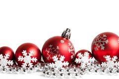 balls christmas red white Στοκ εικόνα με δικαίωμα ελεύθερης χρήσης