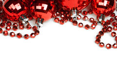 balls christmas red white Στοκ Φωτογραφίες