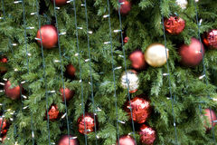 Balls on Christmas tree Royalty Free Stock Photography