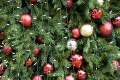 Balls on Christmas tree royalty free stock photography
