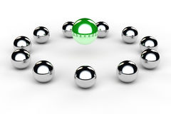 Balls in a circle as team Stock Photography