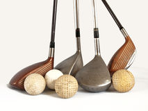 Balls and clubs Royalty Free Stock Photos