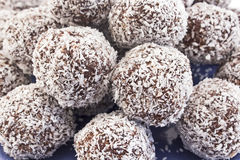Balls of coconut and chocolate Royalty Free Stock Image
