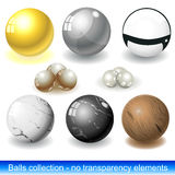 Balls collection Stock Photos