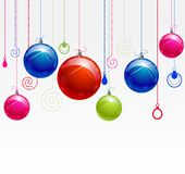 Balls with color decor Stock Images